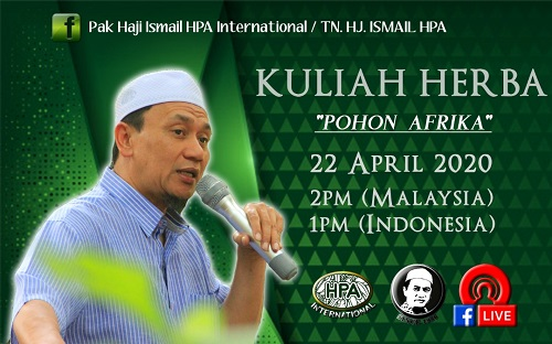(Translate) Catatan Kuliah FB Tn. Hj Ismail 22 April 2020